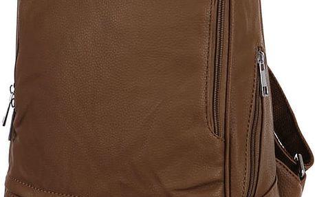 Elegantní koženkový batoh khaki