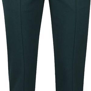 Tmavě zelené osminkové kalhoty VILA