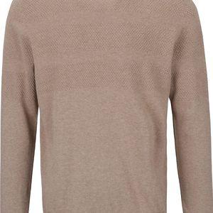 Béžový pánský svetr s knoflíky Jack & Jones