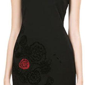Desigual Dámské šaty Clemente Negro 67V20H3 2000 L