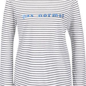 Černo-bílé pruhované tričko s dlouhým rukávem Maison Scotch