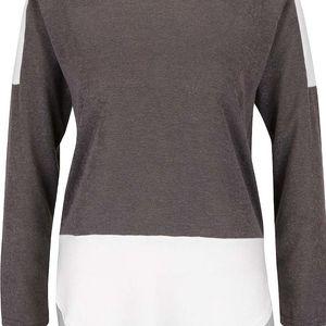 Krémovo-šedý tenký svetr s dlouhým rukávem AX Paris