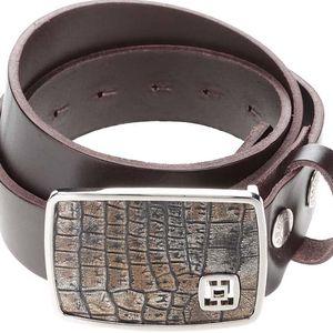 Hnědý pánský kožený pásek Horsefeathers Fred