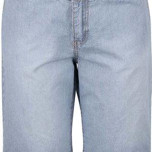 Světle modré dámské pruhované džínové kraťasy s.Oliver