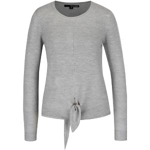 Šedý lehký svetr na zavazování s dlouhým rukávem TALLY WEiJL
