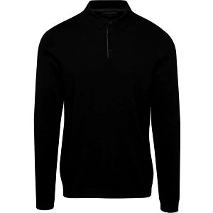 Černý pánský svetr s límečkem Casual Friday