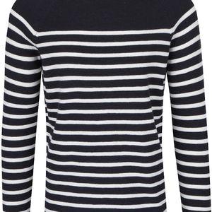 Krémovo-modrý pruhovaný svetr Selected Homme Stripe