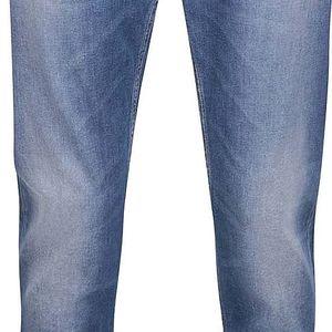 Modré pánské slim straight džíny s vyšisovaným efektem GANT
