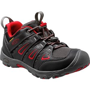 KEEN Junior boty Oakridge Low WP Black/Tango 37