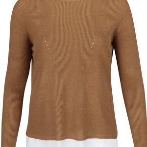 Hnědý lehký svetr s dlouhým rukávem Dorothy Perkins Curve