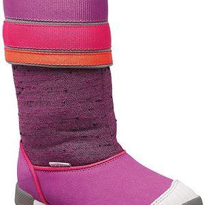 KEEN Dětské boty Encanto Madison Boot Purple Wine/Tigerlily 27-28