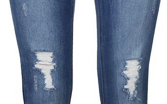 Modré dámské džíny s roztrhanými detaily Desires Lola