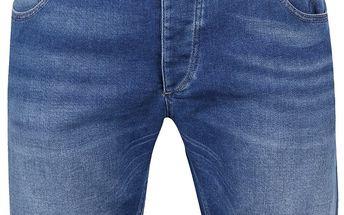 Světle modré džínové kraťasy Selected Homme Pep