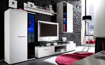 Obývací stěna SALSA, bílá barva