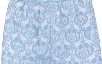 Modré vzorované šortky s páskem Anna Smith