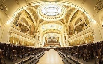 Koncert klasické hudby v pražském Obecním domě
