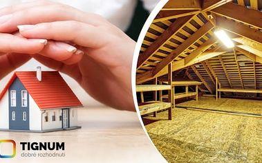 Kupon na slevu až 32 %.Myslete na budoucnost vaši i vašeho domu. S dnešní nabídkou můžete ušetřit nemalé náklady na vytápění domua vyhnout se výdajům na rekonstrukci celé střechy. Chraňte střechu proti škůdcům a zateplete dům. Navíc získátezdarmaposou