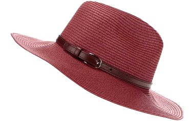 Cihlově červený klobouk Pieces Ballu