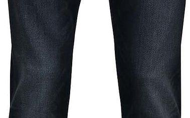 Tmavě modré pánské džíny s vyšisovaným efektem Quiksilver Distorsirinse