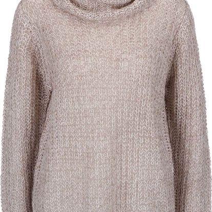 Krémovo-béžový svetr s rolákem Mimei b.young