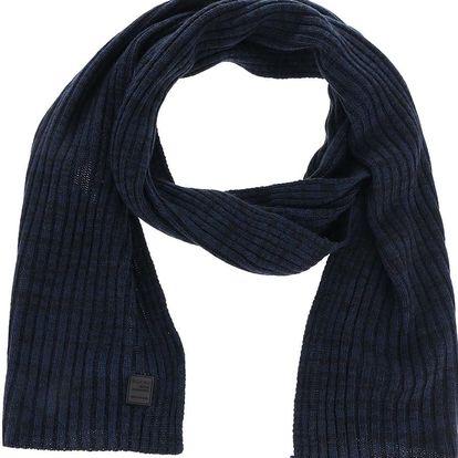 Černo-modrá pletená šála Blend
