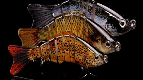 Plastová návnada na ryby v podobě kapra