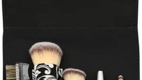 Sefiros Luxusní pouzdro se stříbrným logem a sadou kosmetických štětců Silver