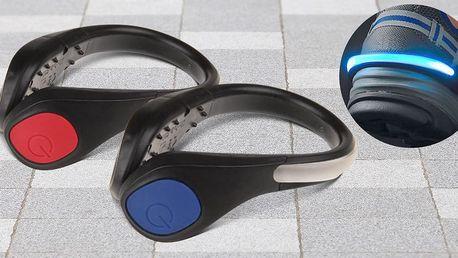 Bezpečnostní LED světlo na boty nejen pro běžce
