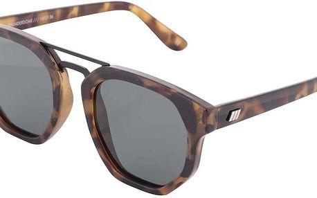 Hnědé dámské želvovinové sluneční brýle Le Specs Thunderdome