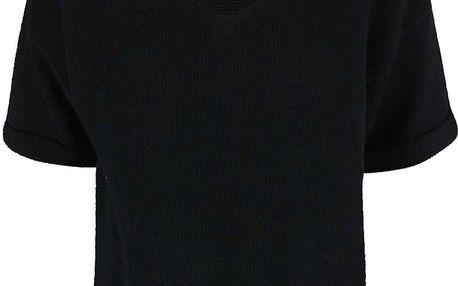 Černý svetr s krátkým rukávem Noisy May Malin