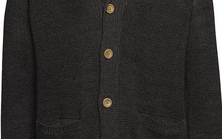 Tmavě šedý cardigan s dřevěnými knoflíky Blend