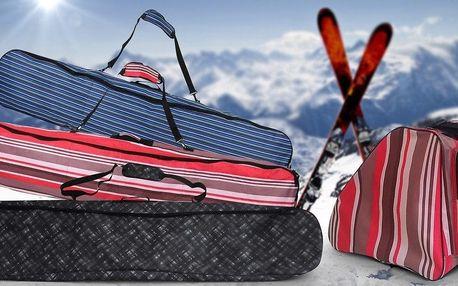 Odolné vaky na lyže, snowboardy i přeskáče