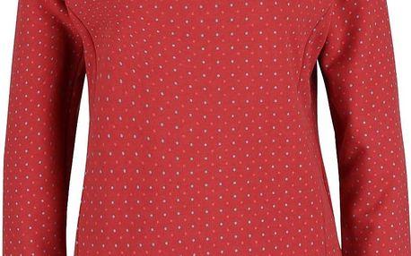 Červená dámská mikina s puntíky Ragwear Kind Dots