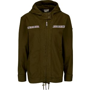 Khaki lehká bunda s kapucí Roxy Gabis