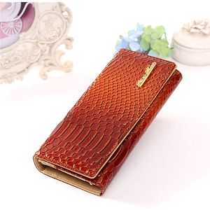 Dámská elegantní peněženka s motivem krokodýlí kůže
