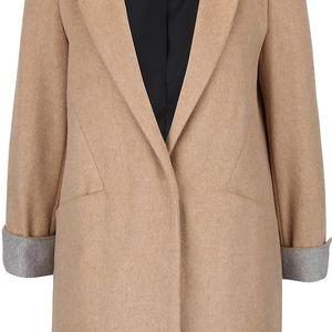 Světle hnědý kabát s kapsami Dorothy Perkins