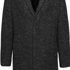 Tmavě šedý kabát Selected Homme Brook Boucle