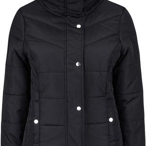 Černá prošívaná bunda s vysokým límcem Vero Moda Papette