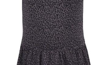 Tmavě šedé holčičí vzorované šaty name it Jasmin