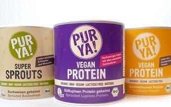 BIO slunečnicový a lupina protein či naklíčená pohanka vhodná pro vegany