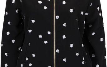 Černý bomber s puntíky Vero Moda Dottie