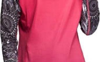 Desigual Sportovní tričko A T-S Long Sleeve B Paradise Pink 67T2SE2 3177 M