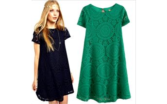 Romantické háčkované šaty