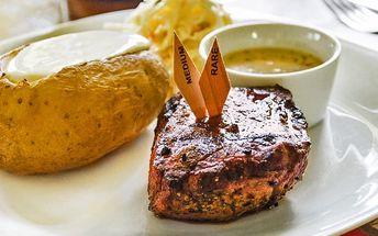 Steakové menu pro dvě osoby v centru Prahy
