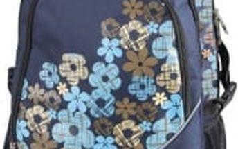 SPOKEY školní-sportovní batoh s modrými kvítky