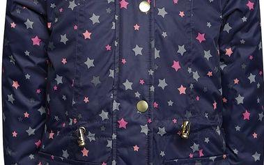 Tmavě modrá holčičí bunda s umělým kožíškem 5.10.15.