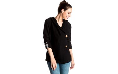 Roxy Mikina Knot A Care J Oltr True Black ERJFT03389-KVJ0 L
