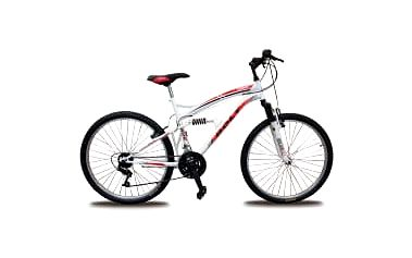 """BOLT 26"""" bílé celoodpružené horské kolo"""