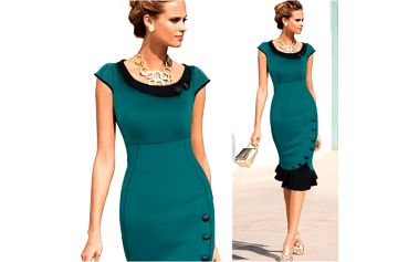 Elegantní šaty s knoflíčky Tracey!