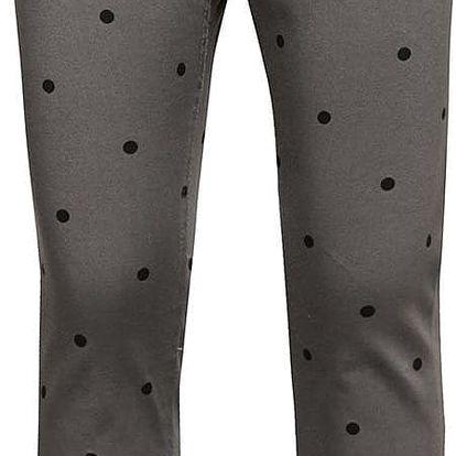 Šedé holčičí kalhoty s puntíky 5.10.15.